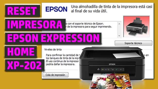 Reset impresora EPSON Expression Home XP-202