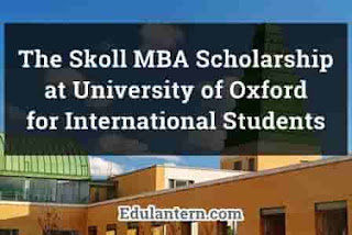 Skoll MBA Scholarship at University of Oxford for International Students