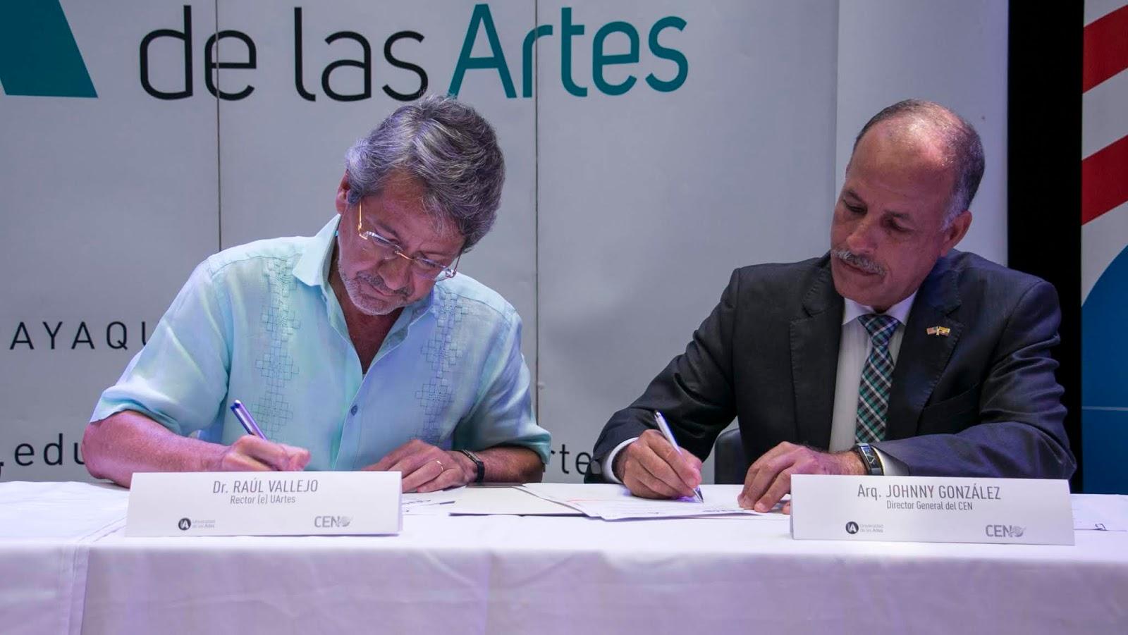 El CEN y la Universidad de las Artes firmaron convenio de cooperación interinstitucional