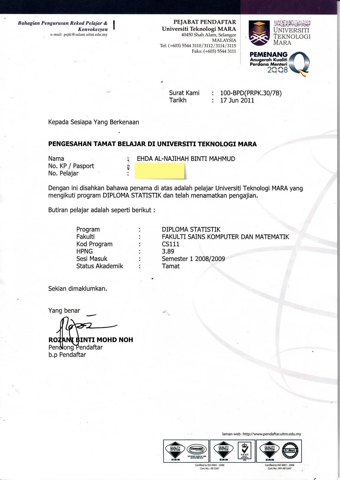 Contoh Surat Rasmi Permohonan Sambung Kontrak Kerja Rasmi Ri