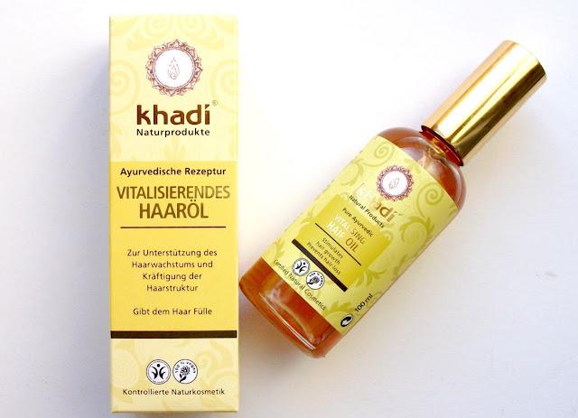 Khadì Vitalising Hair Oil, Ayurvedic oils mix, review