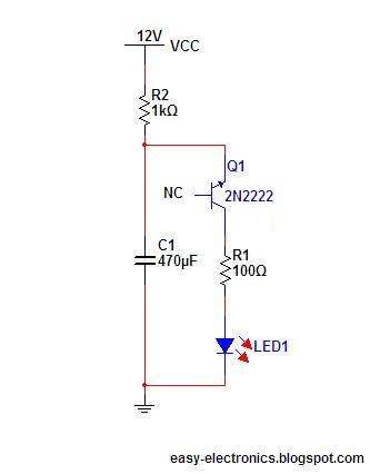 the simplest led flasher one transistor easy electronics