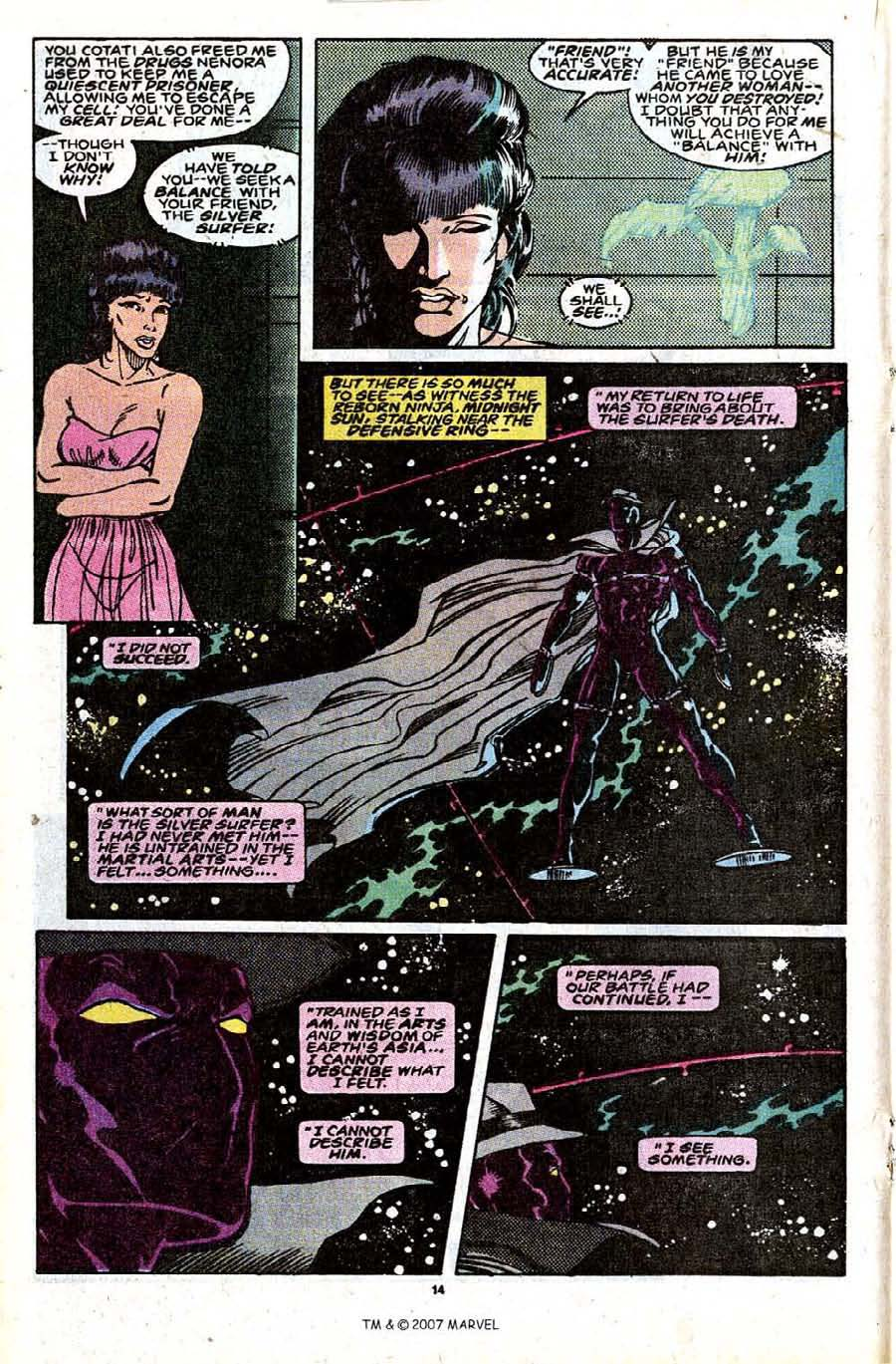 Read online Silver Surfer (1987) comic -  Issue #30 - 16