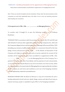 draft resolution for reappointment of managing director