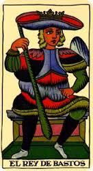 Tarot Marsella: Rey de Bastos