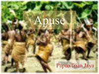 Lirik lagu daerah papua/irianjaya Apuse