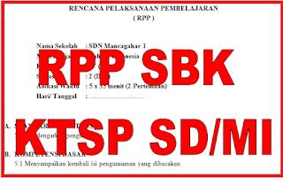 RPP SBK KTSP untuk SD/MI