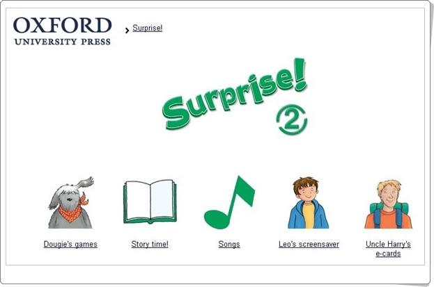 Surprise! Inglés de 2º Nivel de Educación Primaria. Editorial Oxford.