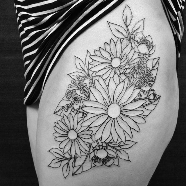White Daisy Tattoo: 10+ Awesome About Ideas Daisy Tattoo Black White