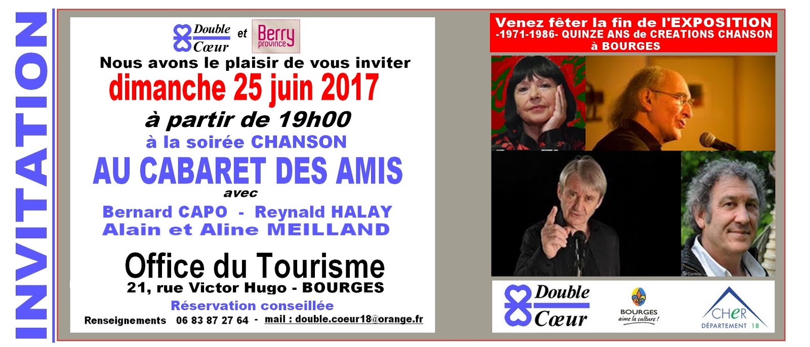 Double coeur quinze ans de creations bourges - Office de tourisme bourges ...