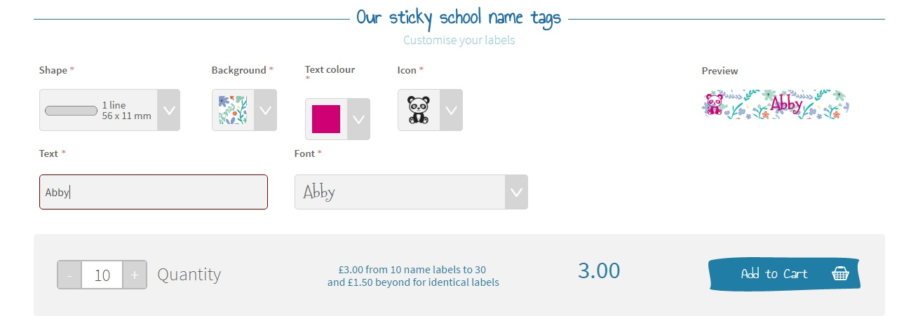 Back to School, school uniform name labels, non-iron stick on name labels