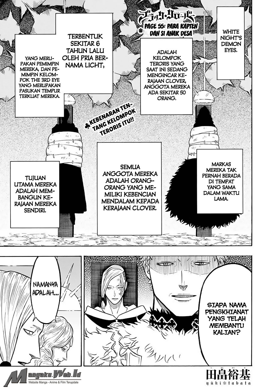 Black Clover Chapter 55 Para Kapten Dan Si Anak Desa
