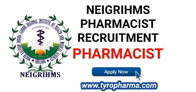 Pharmacist Job at NEIGRIHMS