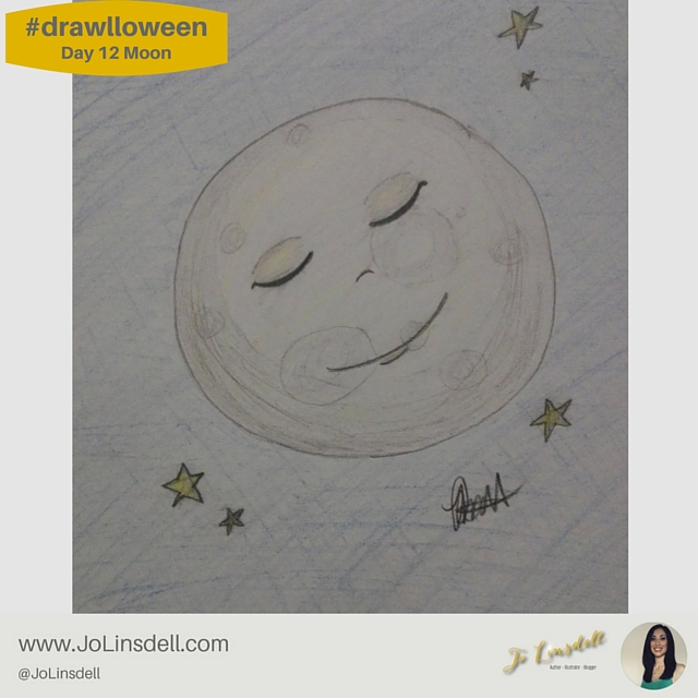 #drawlloween: Day 12 Moon #Halloween #Drawing #Challenge