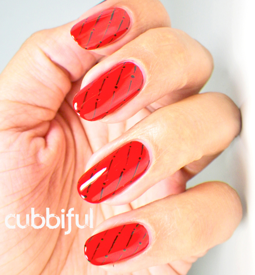 elegant red nails