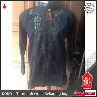 KKO42 PSR221 Baju Koko Lebaran Gunawan Lengan Panjang Dark BMGShop