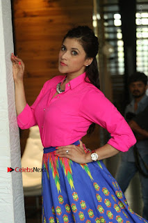 Actress Mannar Chopra in Pink Top and Blue Skirt at Rogue movie Interview  0031.JPG