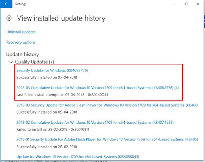 Fix Windows 10 Cumulative Update KB4088776 Installation Error