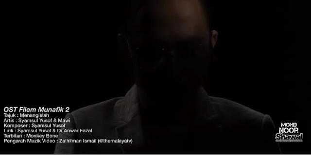 Lirik Syamsul Yusof & Mawi - Menangislah (OST Munafik 2)