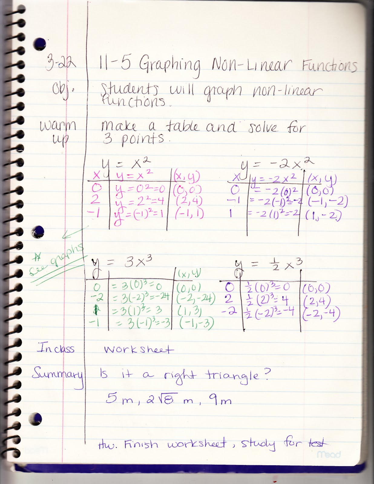 Ms Jean S Classroom Blog 11 5 Graphing Non Linear Equations