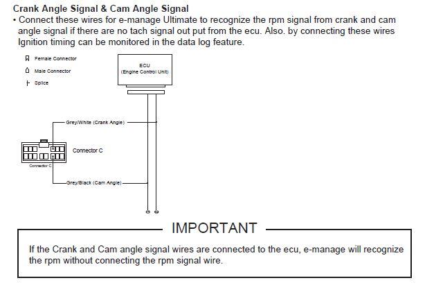 ini supaya emanage ultimate boleh mengesan trigger enjin sebenar sama  seperti ecu standard untuk menghantar signal