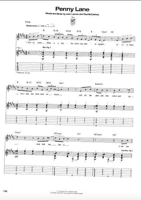 The Beatles - Penny Lane partitura