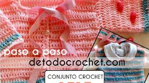 Patrones de Chaleco y Chaqueta para Bebe a Crochet / Paso a paso