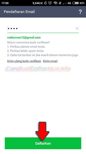cara verifikasi line dengan gmail