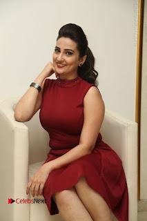 Telugu Tollywood Anchor Manjusha Pos in Red Short Dress  0078.JPG