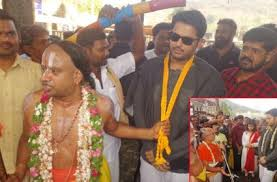 When Nithiin Was In The Temple?