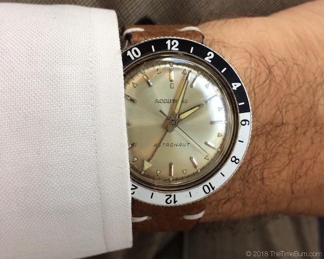 1968 Bulova Accutron Astronaut GMT wrist shot