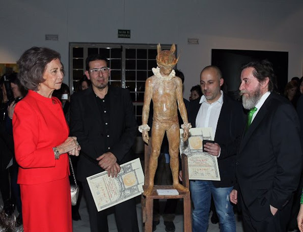 Queen Sofia of Spain attends the 52th 'Reina Sofia' painting and sculpture awards ceremony at Casa Vacas in Madrid