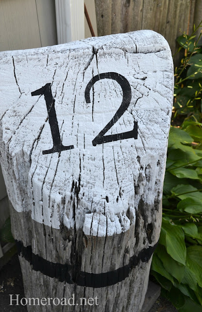 stump with number 12