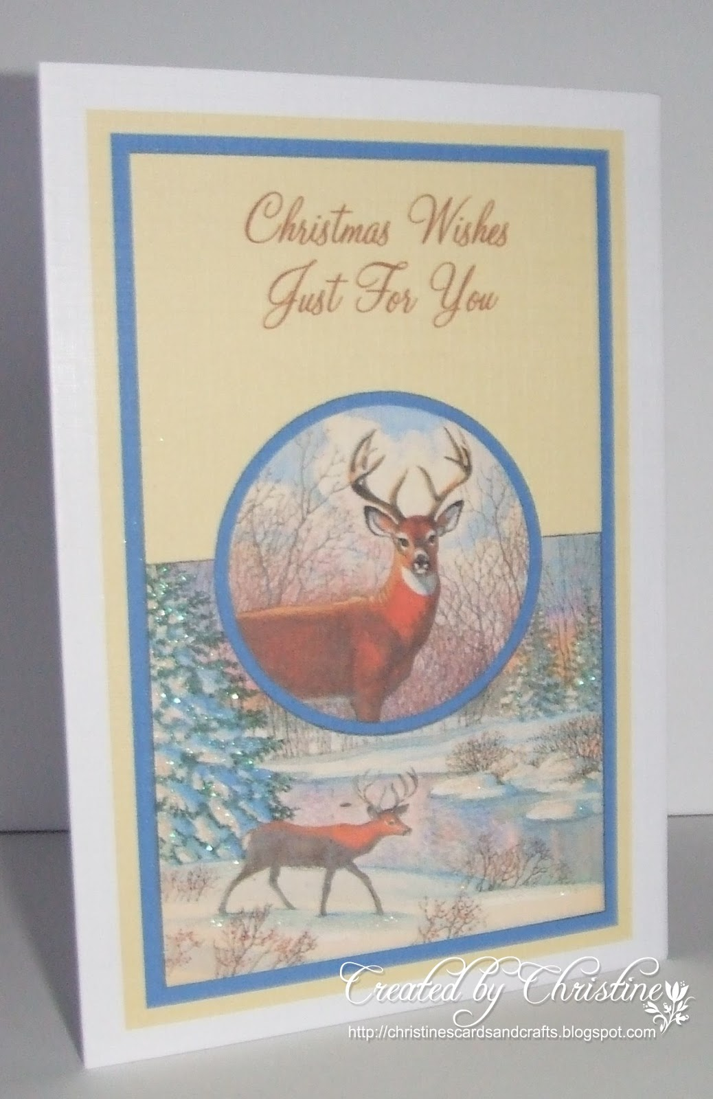 Christines Cards And Crafts Snow Globe With Reindeer Shaker Card