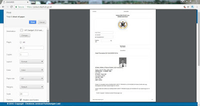 Cara setting before printing out database pelaut online