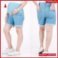 MOM041C10 Celana Hamil Hotpants Rumbai Jeans Celanahamil Ibu Hamil
