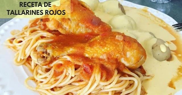 Tallarines Rojos con Pollo 🥇 Un riquísima Receta