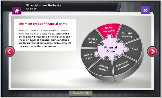 Screen grab showing Financial Crime The Basics Course