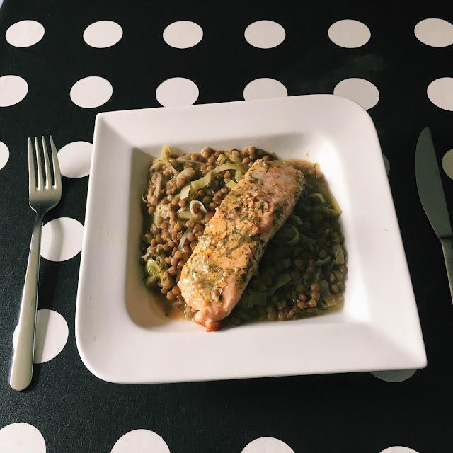 Saumon Aux Lentilles
