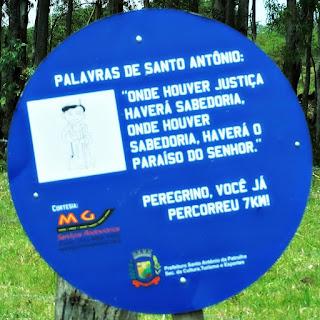 Placa de Sete Quilômetros - Caminho de Santiago, Santo Antônio da Patrulha