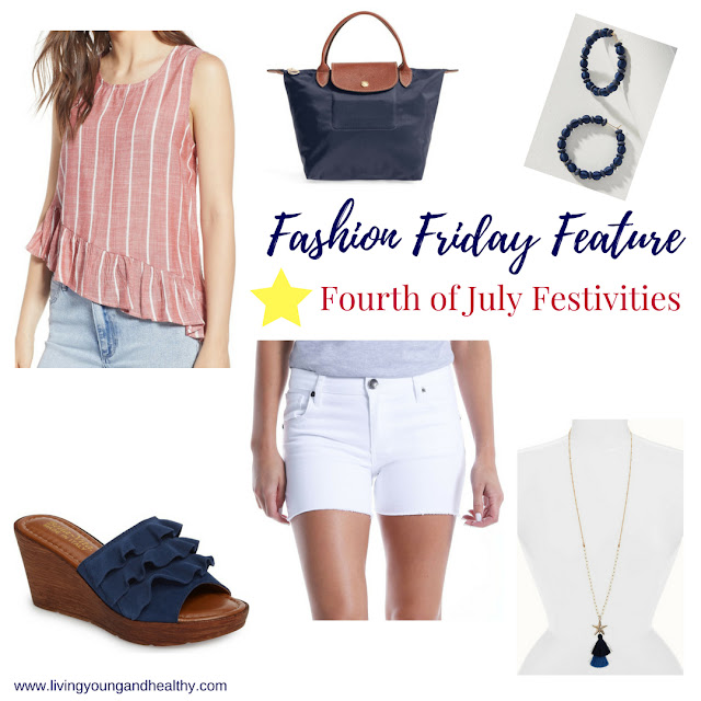 This patriotic Fourth of July inspired outfit is comprised of pieces that can be worn all season long | www.livingyoungandhealthy.com