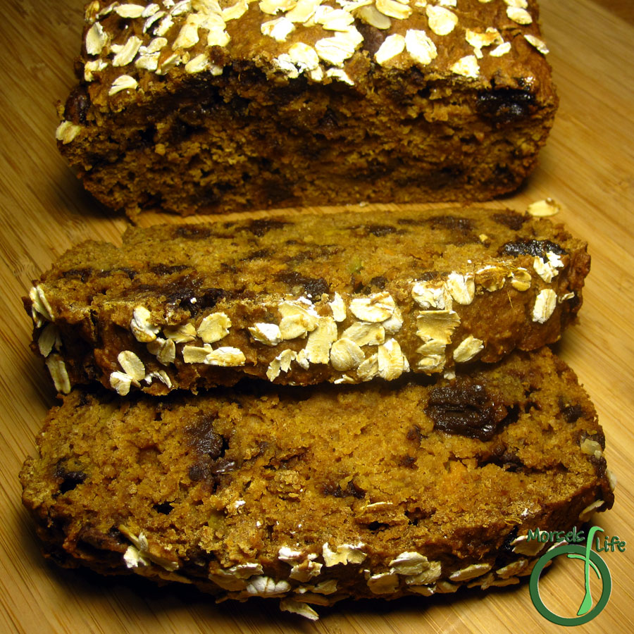 Morsels of Life - Sweet Potato Chocolate Cherry Bread - A moist spice cake with sweet potatoes, cherries, chocolate, and of course, spices.