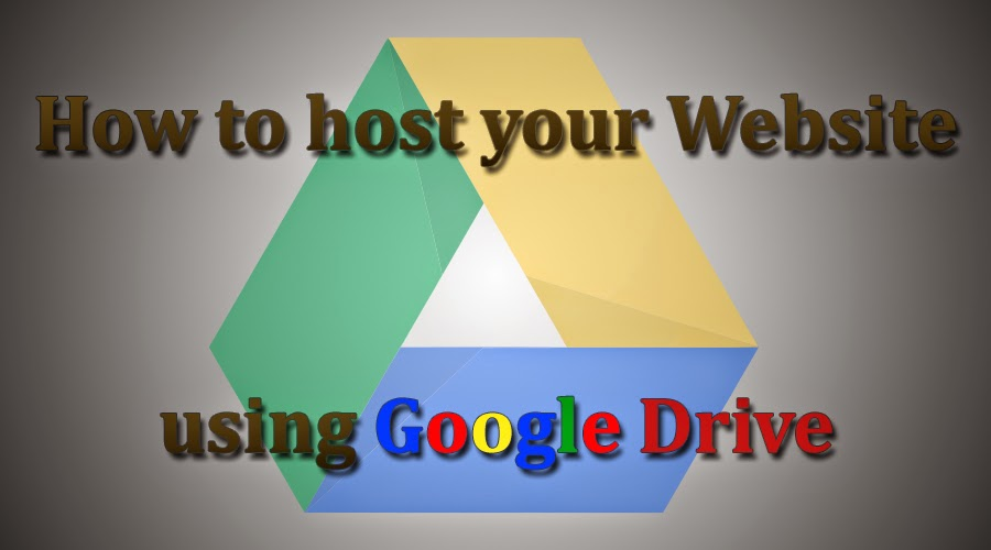 host website using google drive