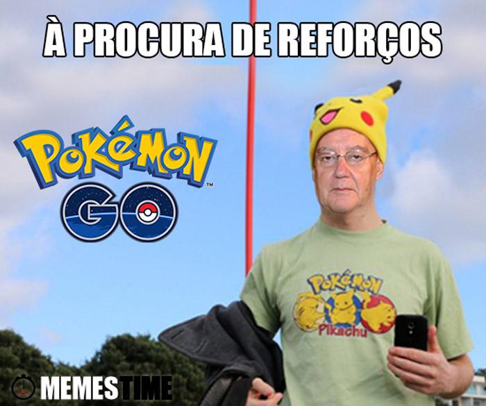 Meme Pinto da Costa joga Pokémon Go – À procura de Reforços