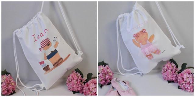 mochilas infantiles personalizadas  y camisetas infantiles personalizadas con nombre