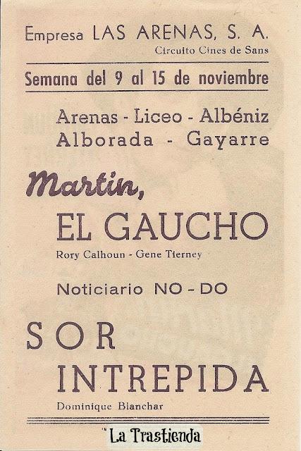 Programa de Cine - Martín El Gaucho - Gene Tierney - Rory Calhoun