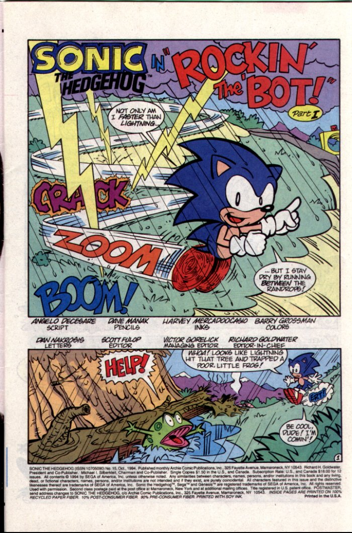 Read online Sonic The Hedgehog comic -  Issue #15 - 2