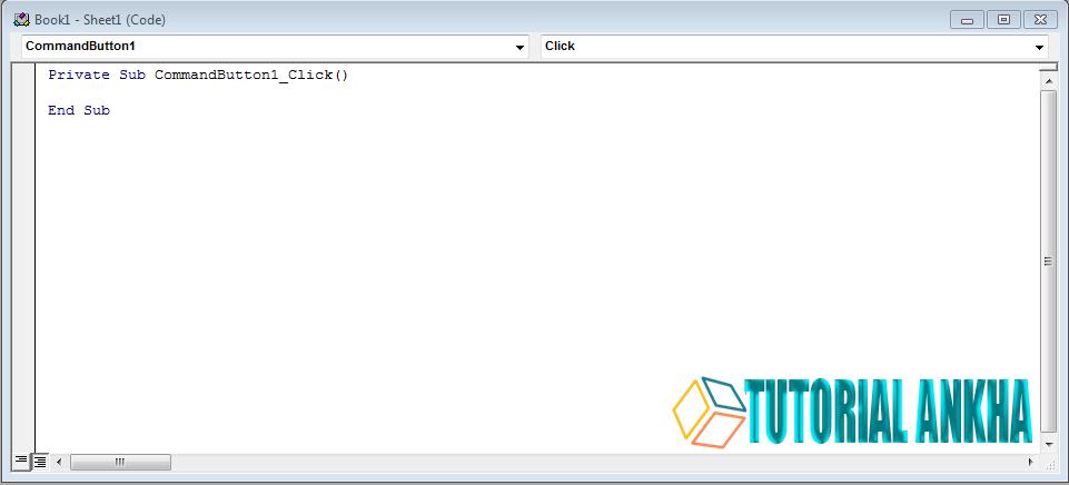 Cara membuat command button Activex Control Excel VBA