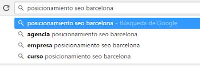 """posicionamiento seo está relacionado con """"agencia posicionamiento seo barcelona"""""""