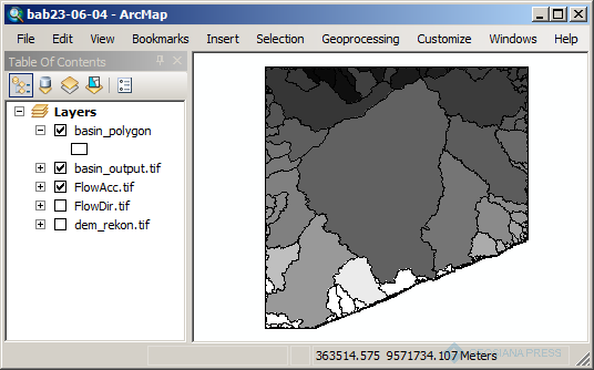 Delineasi Batas Daerah Aliran Sungai (DAS) atau Daerah Tangkapan